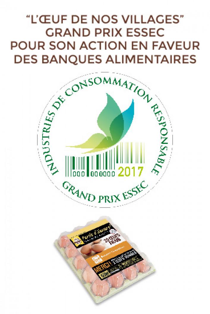 L'Oeuf de nos Villages au grand prix Essec des Industries de la Consommation Responsable