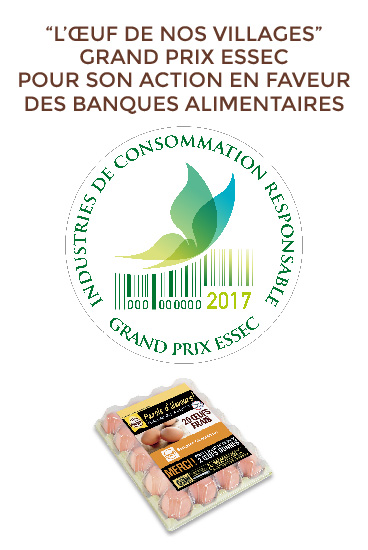 L'Oeuf de nos Villages au grand prix Essec des Industries de la Consommation Responsable