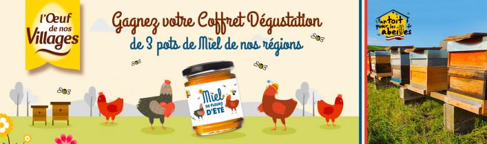 Gagnez votre coffret de dégustation de 3 pots de miel de nos régions !