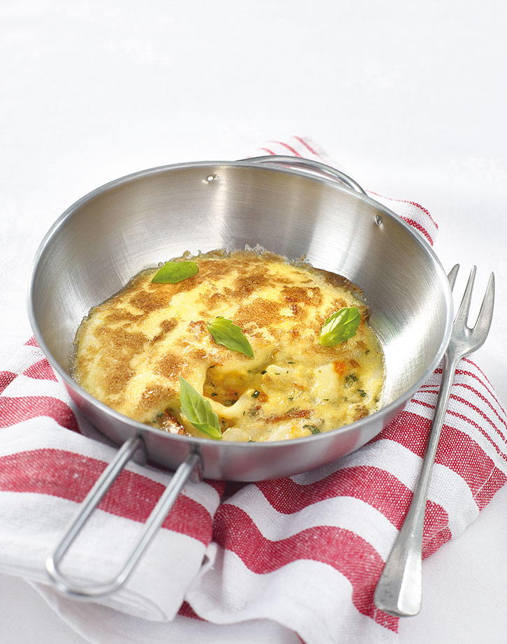 Omelette haddock et sauce hollandaise